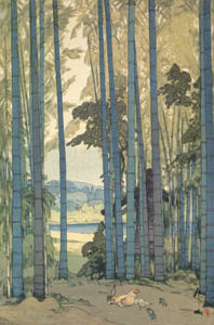 thumbnail Yoshida Hiroshi – Bamboo Grove [from Fukuoka Art Museum]