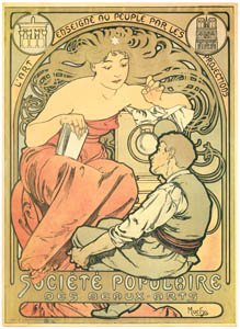 thumbnail Alphonse Mucha – SOCIETE POPULAIRE DES BEAUX – ARTS [from Alphonse Mucha: The Ivan Lendl collection]