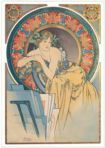 thumbnail Alphonse Mucha – WOMAN WITH POPPIES [from Alphonse Mucha: The Ivan Lendl collection]