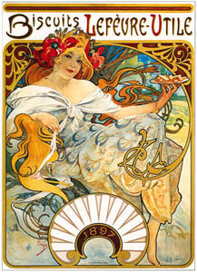 thumbnail Alphonse Mucha – BISCUITS LEFEVRE-UTILE [from Alphonse Mucha: The Ivan Lendl collection]