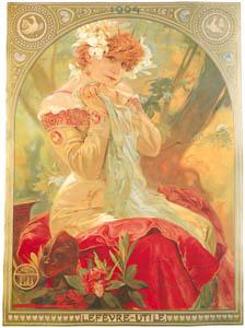 thumbnail Alphonse Mucha – LEFEVRE-UTILE / SARAH BERNHARDT [from Alphonse Mucha: The Ivan Lendl collection]