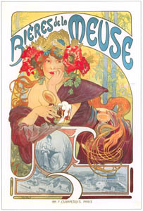 thumbnail Alphonse Mucha – BIERES DE LA MEUSE [from Alphonse Mucha: The Ivan Lendl collection]