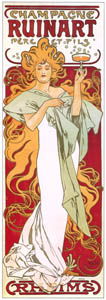thumbnail Alphonse Mucha – CHAMPAGNE RUINART [from Alphonse Mucha: The Ivan Lendl collection]