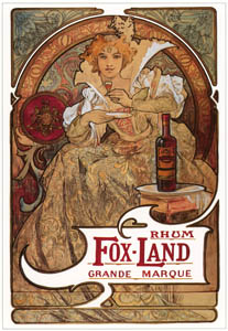 thumbnail Alphonse Mucha – FOX-LAND RUM [from Alphonse Mucha: The Ivan Lendl collection]