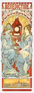 アルフォンス・ミュシャ – ベネディクティン酒 (アルフォンス・ミュシャ イワン・レンドル・コレクションより)のサムネイル画像