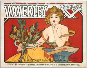 アルフォンス・ミュシャ – ウェイヴァリー自転車 (アルフォンス・ミュシャ イワン・レンドル・コレクションより)のサムネイル画像