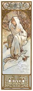 アルフォンス・ミュシャ – 四季 冬 (アルフォンス・ミュシャ イワン・レンドル・コレクションより)のサムネイル画像