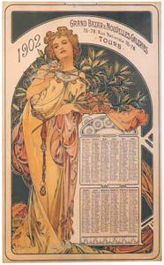 アルフォンス・ミュシャ – カレンダー(1902) (アルフォンス・ミュシャ イワン・レンドル・コレクションより)のサムネイル画像