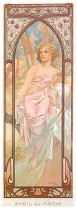アルフォンス・ミュシャ – 一日の四つの時刻 朝の目覚め (アルフォンス・ミュシャ イワン・レンドル・コレクションより)のサムネイル画像