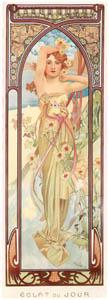 thumbnail Alphonse Mucha – HEURES DU JOUR: ECLAT DU JOUR [from Alphonse Mucha: The Ivan Lendl collection]