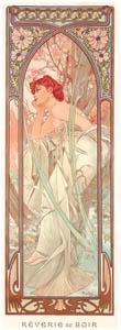 thumbnail Alphonse Mucha – HEURES DU JOUR: REVERIE DU SOIR [from Alphonse Mucha: The Ivan Lendl collection]