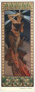 thumbnail Alphonse Mucha – LES ETOILES: ETOILE DU MATIN [from Alphonse Mucha: The Ivan Lendl collection]