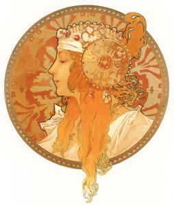 thumbnail Alphonse Mucha – TETES BYZANTINES: BLONDE [from Alphonse Mucha: The Ivan Lendl collection]