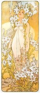 thumbnail Alphonse Mucha – LES FLEURS: LE LYS [from Alphonse Mucha: The Ivan Lendl collection]
