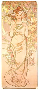 thumbnail Alphonse Mucha – LES FLEURS: LA ROSE [from Alphonse Mucha: The Ivan Lendl collection]