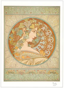 thumbnail Alphonse Mucha – LE LIERRE [from Alphonse Mucha: The Ivan Lendl collection]