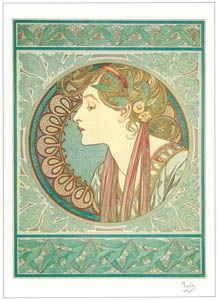 thumbnail Alphonse Mucha – LAURIER [from Alphonse Mucha: The Ivan Lendl collection]