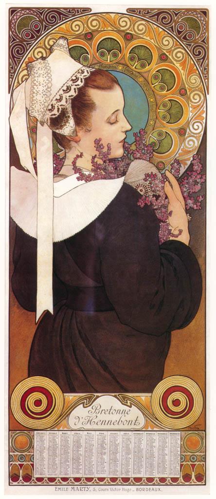 Alphonse Mucha – BRUYERE DE FALAISE [from Alphonse Mucha: The Ivan Lendl collection]