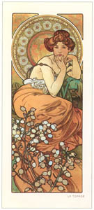 thumbnail Alphonse Mucha – LES PIERRES PRECIEUSES: LA TOPAZE [from Alphonse Mucha: The Ivan Lendl collection]