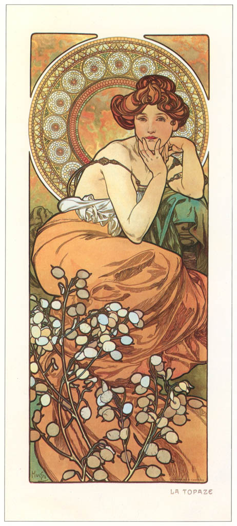 Alphonse Mucha – LES PIERRES PRECIEUSES: LA TOPAZE [from Alphonse Mucha: The Ivan Lendl collection]