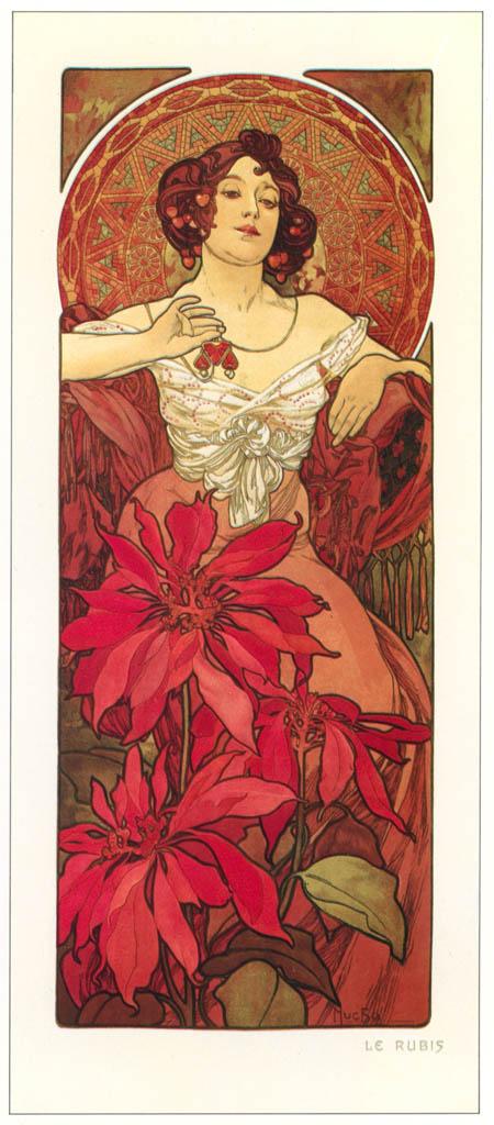 Alphonse Mucha – LES PIERRES PRECIEUSES: LA RUBIS [from Alphonse Mucha: The Ivan Lendl collection]