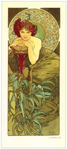 thumbnail Alphonse Mucha – LES PIERRES PRECIEUSES: L'EMERAUDE [from Alphonse Mucha: The Ivan Lendl collection]