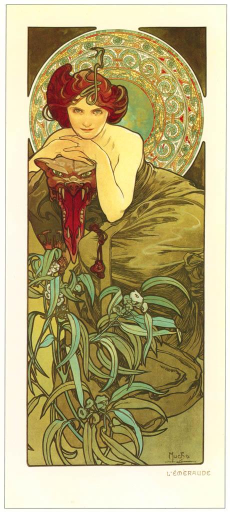 Alphonse Mucha – LES PIERRES PRECIEUSES: L'EMERAUDE [from Alphonse Mucha: The Ivan Lendl collection]