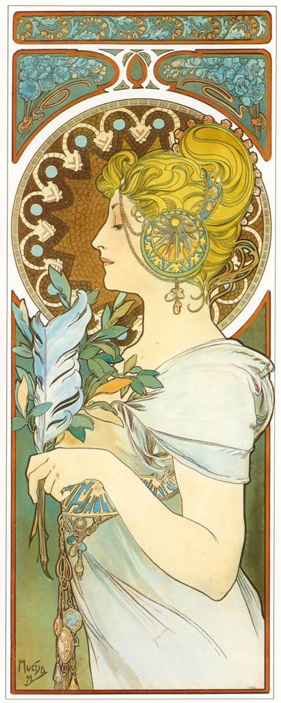 Alphonse Mucha – LA PLUME [from Alphonse Mucha: The Ivan Lendl collection]