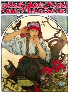 thumbnail Alphonse Mucha – PĚVECKÉ SDRUŽENÍ UČITELŮ MORAVSKÝCH [from Alphonse Mucha: The Ivan Lendl collection]