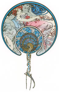 thumbnail Alphonse Mucha – LE VENT QUI PASSE EMPORTE LA JEUNESSE [from Alphonse Mucha: The Ivan Lendl collection]