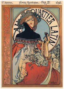 thumbnail Alphonse Mucha – AU QUARTIER LATIN [from Alphonse Mucha: The Ivan Lendl collection]