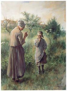 カール・ラーション – 禁断の木の実 (スウェーデンの国民画家 カール・ラーション展より)のサムネイル画像