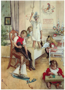 thumbnail Carl Larsson – On the Morning of Christmas Day [from The Painter of Swedish Life: Carl Larsson]