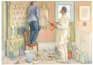 カール・ラーション – 大工と塗装職人 (スウェーデンの国民画家 カール・ラーション展より)のサムネイル画像