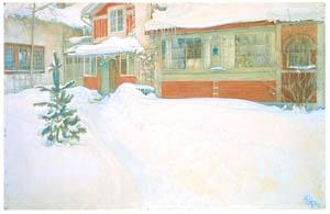 カール・ラーション – 雪に埋もれた家 (スウェーデンの国民画家 カール・ラーション展より)のサムネイル画像