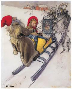 カール・ラーション – チェシュティの橇の旅 (スウェーデンの国民画家 カール・ラーション展より)のサムネイル画像