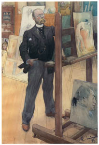 thumbnail Carl Larsson – Self-Portrait in From of the Easel [from The Painter of Swedish Life: Carl Larsson]