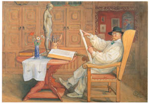 thumbnail Carl Larsson – Self-Portrait [from The Painter of Swedish Life: Carl Larsson]