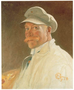 thumbnail Carl Larsson – Self-Portrait at 65 [from The Painter of Swedish Life: Carl Larsson]