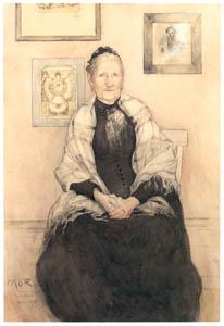 カール・ラーション – 画家の母の肖像 (スウェーデンの国民画家 カール・ラーション展より)のサムネイル画像
