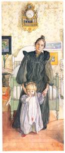 カール・ラーション – カーリンとチェシュティ (スウェーデンの国民画家 カール・ラーション展より)のサムネイル画像