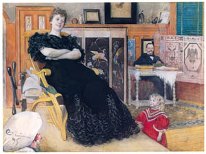 thumbnail Carl Larsson – The Singer Anna Pettersson-Norrie [from The Painter of Swedish Life: Carl Larsson]