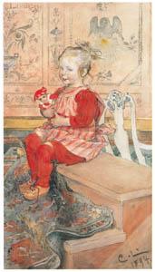 カール・ラーション – リスベス (スウェーデンの国民画家 カール・ラーション展より)のサムネイル画像