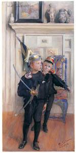 カール・ラーション – ウルフとポントゥス (スウェーデンの国民画家 カール・ラーション展より)のサムネイル画像
