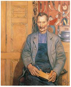 thumbnail Carl Larsson – The Carpenter Hans Arnbom [from The Painter of Swedish Life: Carl Larsson]