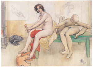 thumbnail Carl Larsson – On the Modeling Table [from The Painter of Swedish Life: Carl Larsson]