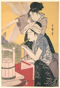 thumbnail Kitagawa Utamaro – Kitchen Scene [Right] [from Ukiyo-e shuka. Museum of Fine Arts, Boston III]