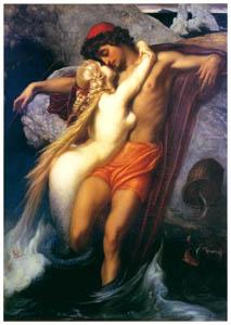 フレデリック・レイトン – 漁師とセイレーン (Frederick Lord Leightonより)のサムネイル画像