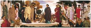 フレデリック・レイトン – 野獣をひきつれてディアーナの神殿へ行列するシラクサの花嫁 (Frederick Lord Leightonより)のサムネイル画像