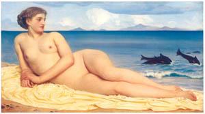 フレデリック・レイトン – アクタイアー、浜辺のニンフ (Frederick Lord Leightonより)のサムネイル画像